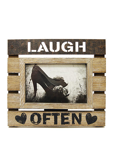 New View Laugh Often 4x6 Frame