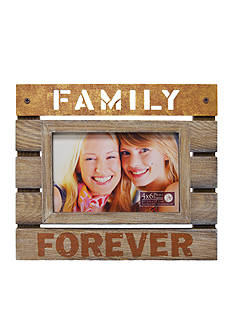 New View Plank Sentiment 'Family Forever 4x6 Frame