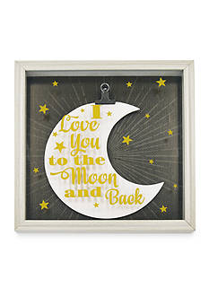 New View I Love You To The Moon And Back Glass Shadowbox