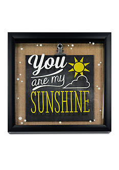 New View You are my Sunshine Metal Clip Glass Shadowbox
