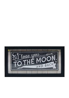 New View 'I Love You To The Moon And Back' Shadow Box