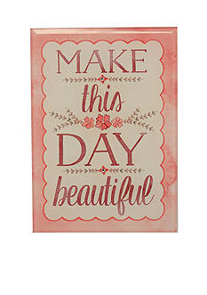 New View Make This Day Beautiful Glass Plaque