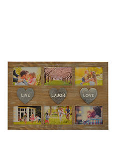 New View Live Laugh Love Collage with Metal Hearts