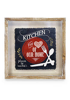 New View Kitchen, the Heart of our Home Framed Plaque