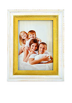 New View White Wash Gold Basic 5x7 Frame