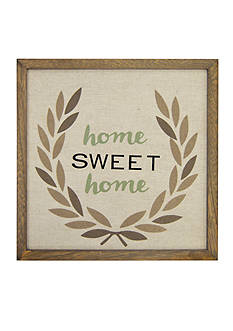 New View Home Sweet Home Framed Wood Plaque