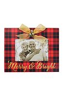 New View Merry and Bright Jingle Bell Plaid 4 x 6