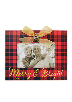 New View Merry and Bright Jingle Bell Plaid 4 x 6 Frame