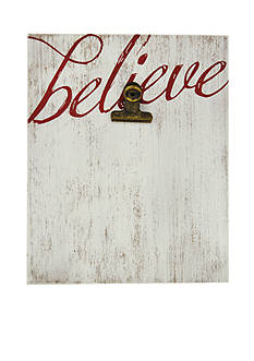 New View Believe Rustic Clip 4x6 Frame
