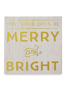 New View May your days be Merry and Bright Plaque
