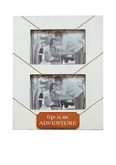 New View Life is an Adventure 2 Opening Copper Plaque 4x6 Frame