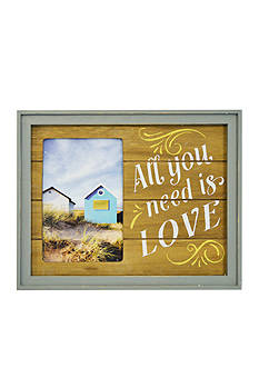 New View All You Need is Love Color Plank 4x6 Frame