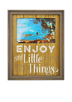 New View Enjoy the Little Things Color Plank 4x6 Frame