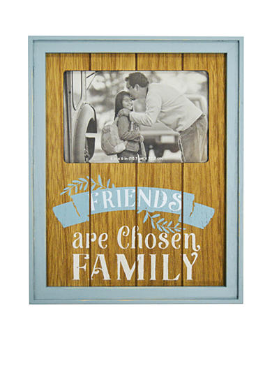 New View Friends are Chosen Family Color Plank 4x6 Frame