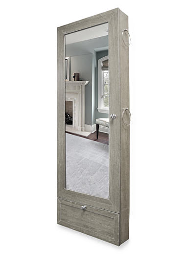 New View Over the Door Jewelry Armoire - Gray