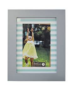 New View Striped Printed Mat and Back 4x6 Frame