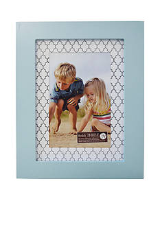 New View Quatrefoil Printed Mat 4x6 Photo Frame