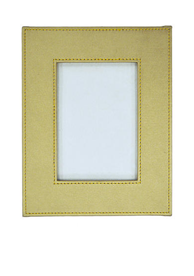 New View Safari Lux Gold Leather 4x6 Frame