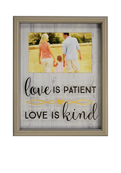 New View Love is Patient Wood 4x6 Frame
