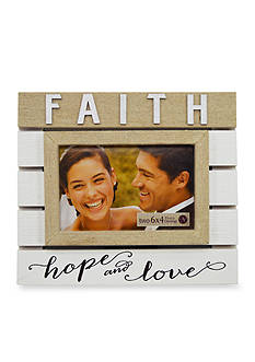 New View Faith Hope and Love 4x6 Plank Frame