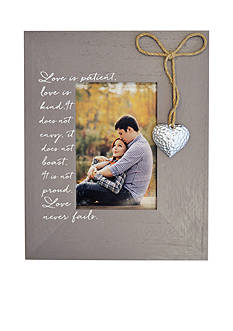 New View 4x6 Hanging Icon Heart Frame - Gray