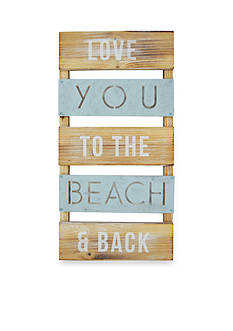 New View Love You to the Beach and Back Plank Art