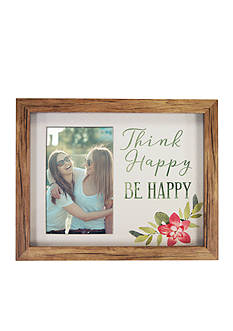 New View Think Happy Be Happy Watercolor Shadowbox 4x6 Frame