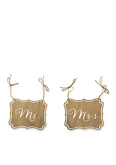 New View Mr. and Mrs. Hanging Signs, 2 Pack