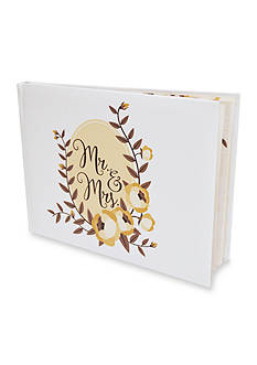 New View Wedding Guest Book Mr. And Mrs. Floral