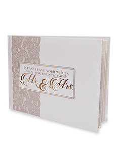 New View Wedding Guest Book Mr. And Mrs.