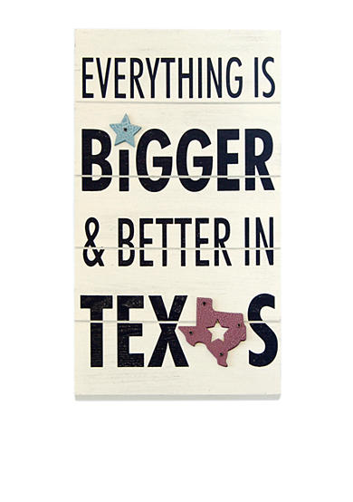 New View Everything is Bigger in Texas Plaque