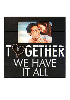 New View Rustic Statements Together We Have It All 6x4 Frame
