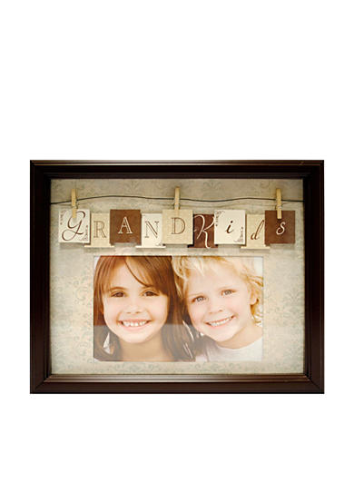 New View Clothespin Captions Grandkids Frame