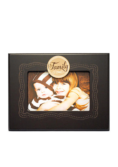 New View Family Brown Sketched Sentiment 6x4 Frame