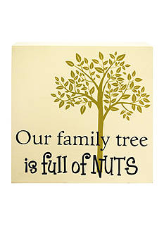 New View Family Full of Nuts Plaque