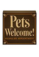 New View Pets Welcome Plaque