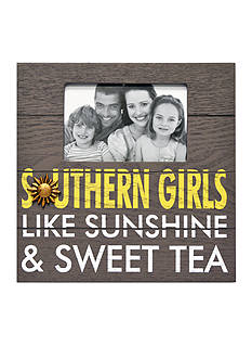 New View Southern Girls, Like Sunshine & Sweet Tea Wood Plaque 4x6 Photo Frame