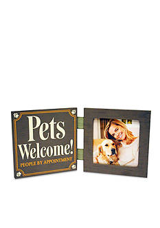 New View Pets Welcome, People by Appointment 4x4 Frame