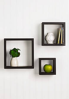 Melannco International Square Black Cubes Set of 3