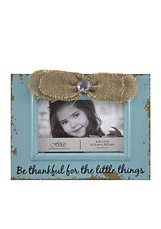 Fetco Home Decor Ribbon Thankful for Little Things 4x6 Frame