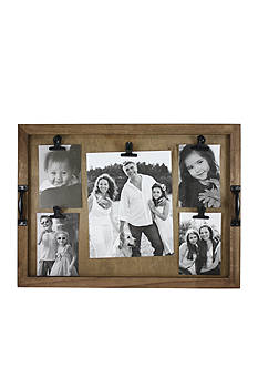 Fetco Home Decor Wood Collage with Metal Handles and Clips