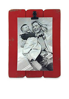Fetco Home Decor Red Slats 4x6 Clip Frame
