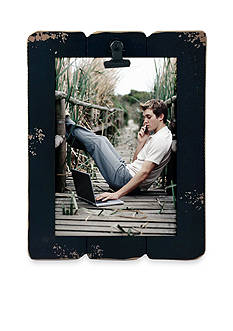 Fetco Home Decor Ebony Slats 4x6 Clip Frame