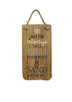 Fetco Home Decor Shell In Your Pocket And Sand In Your Toes Driftwood Plaque