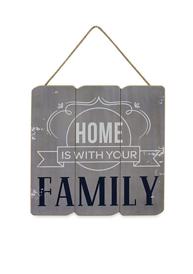 Fetco Home Decor Home is with Your Family Wall Plaque