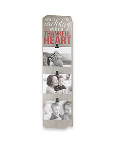 Fetco Home Decor Start Each Day with a Thankful Heart 4x6 Triple Clip Frame