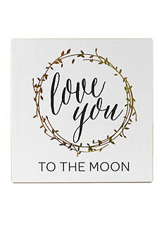 Fetco Home Decor Love You to the Moon Plaque