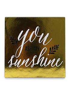 Fetco Home Decor Kenley Art 'You Are My Sunshine' Plaque