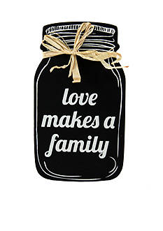 Fetco Home Decor Love Makes a Family Mason Sentiment Plaque