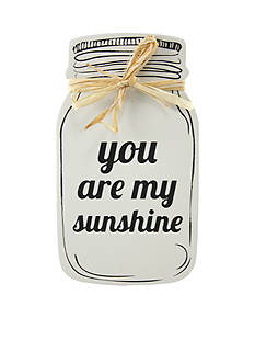 Fetco Home Decor 'You Are My Sunshine' Mason Plaque